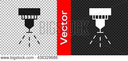 Black Fire Sprinkler System Icon Isolated On Transparent Background. Sprinkler, Fire Extinguisher So