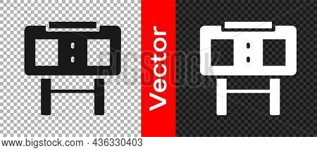 Black Sport Mechanical Scoreboard And Result Display Icon Isolated On Transparent Background. Vector