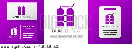 Logotype Aqualung Icon Isolated On White Background. Oxygen Tank For Diver. Diving Equipment. Extrem