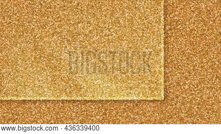 Transparent Glass Over Top Of Golden Dust. Luxury Background For Product Demonstrations Vector Illus
