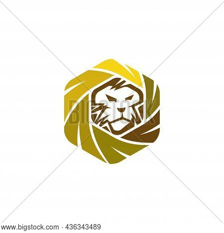 Lion Leaf Abstract Illustration Emblem Mascot Isolated