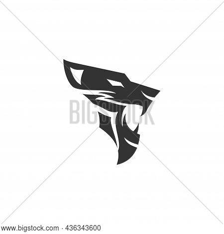 Lion Head Simple Illustration Template Mascot Emblem Isolated