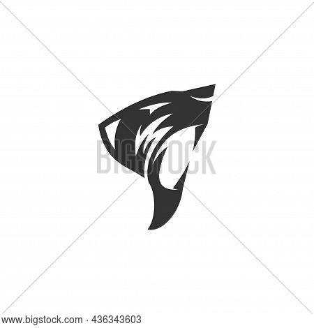 Lion Head  Illustration Template Mascot Emblem Isolated