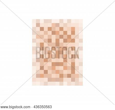 Censor Blur Effect Texture For Face Or Nude Skin. Blurry Pixel Color Censorship Rectangle. Vector Il