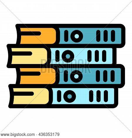 E Catalogs Icon. Outline E Catalogs Vector Icon Color Flat Isolated