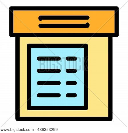 Electronic Cabinet Icon. Outline Electronic Cabinet Vector Icon Color Flat Isolated