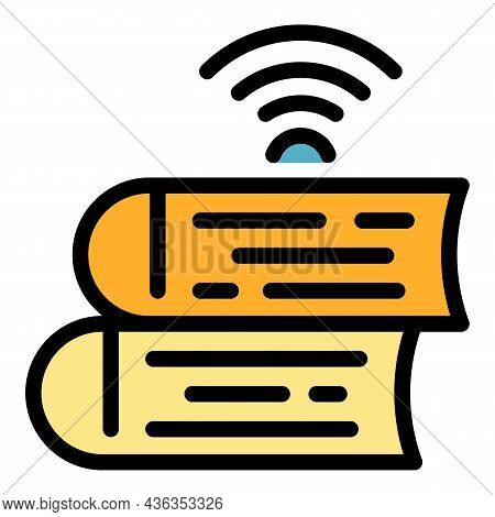 Wireless Catalogs Icon. Outline Wireless Catalogs Vector Icon Color Flat Isolated