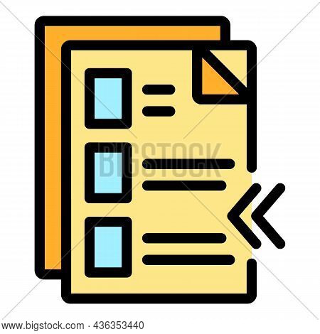 Digital Form Icon. Outline Digital Form Vector Icon Thin Line Color Flat On White