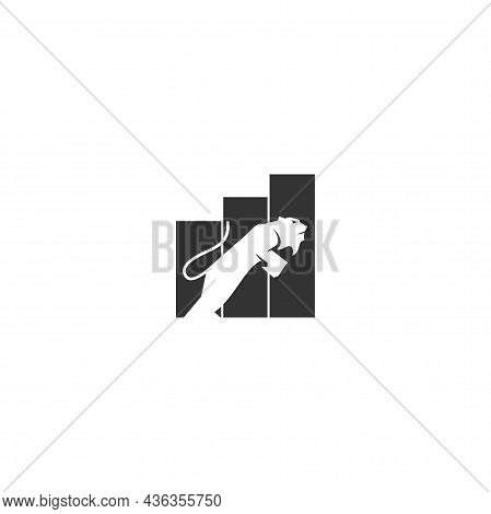 Lion Business Increase Template Illustration Emblem Mascot Isolated