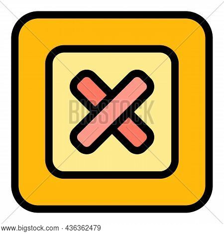 Reject Interface Icon. Outline Reject Interface Vector Icon Color Flat Isolated