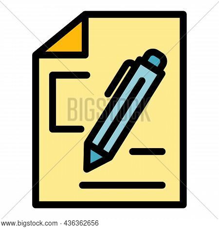 Writing Interface Icon. Outline Writing Interface Vector Icon Color Flat Isolated