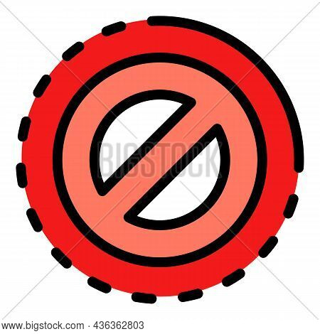 Rejection Interface Icon. Outline Rejection Interface Vector Icon Color Flat Isolated