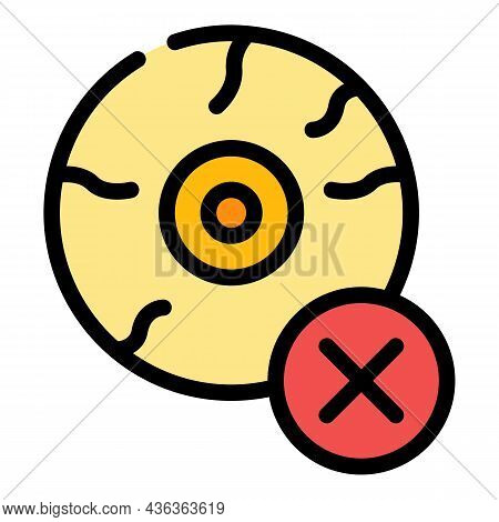 Tired Eye Icon. Outline Tired Eye Vector Icon Color Flat Isolated