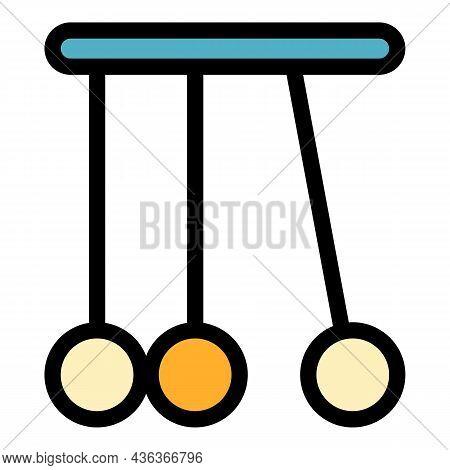Pendulum Balls Icon. Outline Pendulum Balls Vector Icon Color Flat Isolated