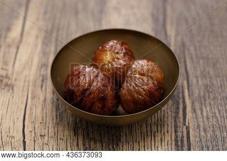 Japanese traditional chestnut compote called Kuri No Shibukawani