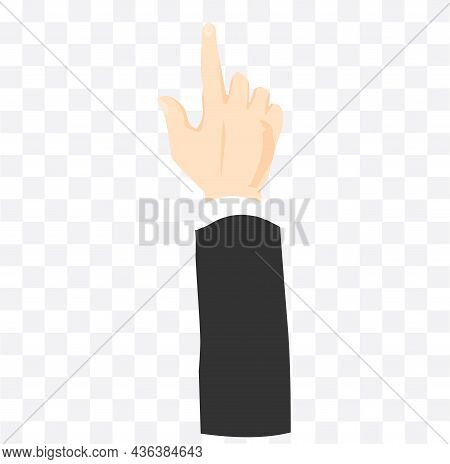 Hand Pointing Isolated Illustration. Hand Pointing Isolated Illustration.