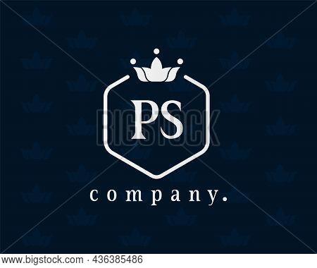 Letter Ps Crown Monogram. Elegant Logo And Creative Typography. The Graceful Vintage Emblem For Book