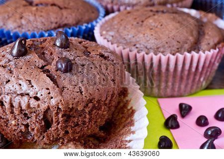 Chocolat Miffins With Chocolat Drops