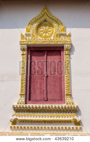 Thai Style Temple Windows