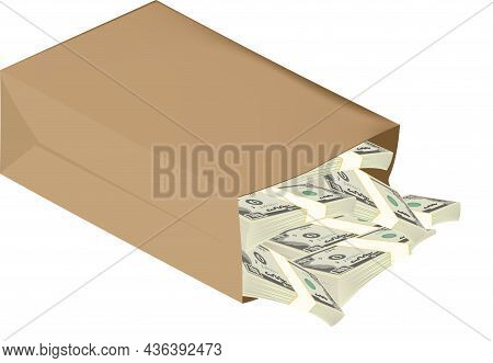 Recycled Paper Bag Container With Currency Recycled Paper Bag Container With Currency