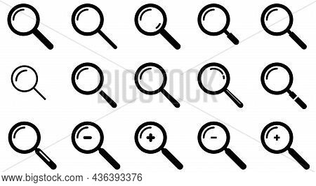 Magnifying Glass Icon, Magnifying Glass Vector With Reflection, Research Icon Symbol Illustration, U
