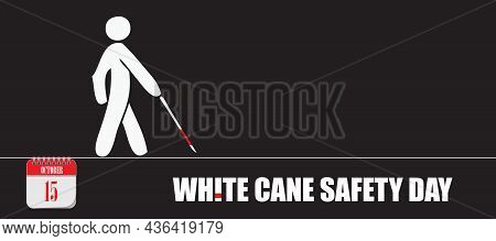 Card For Event October Day White Cane Safety Day