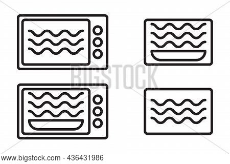 Microwave Oven Safe Symbol Vector Container Cooking Isolated Oven Safe Symbol Microwave