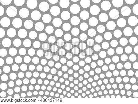 Background Of White Dots On Gray - Abstract Illustration In Grayscale Tones, Vector