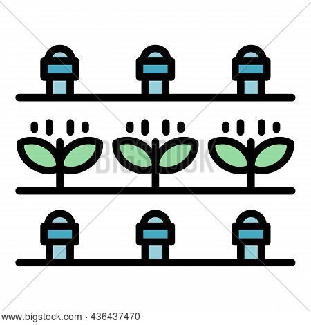 Plants Water Irrigation Icon. Outline Plants Water Irrigation Vector Icon Color Flat Isolated