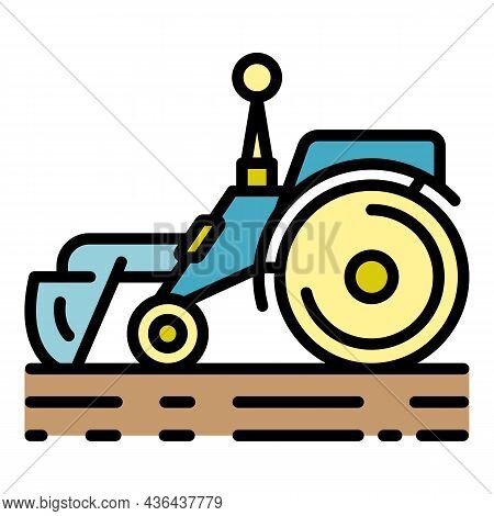 Smart Remote Tractor Icon. Outline Smart Remote Tractor Vector Icon Color Flat Isolated