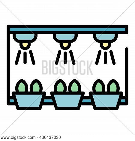 Smart Irrigation Rack Icon. Outline Smart Irrigation Rack Vector Icon Color Flat Isolated