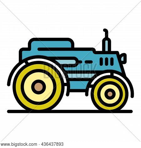 Smart Modern Tractor Icon. Outline Smart Modern Tractor Vector Icon Color Flat Isolated