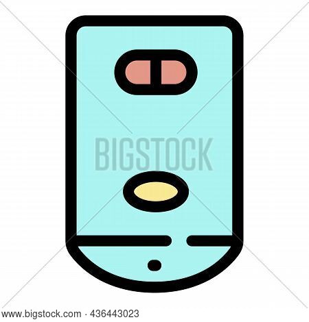 Wall Mounted Boiler Icon. Outline Wall Mounted Boiler Vector Icon Color Flat Isolated