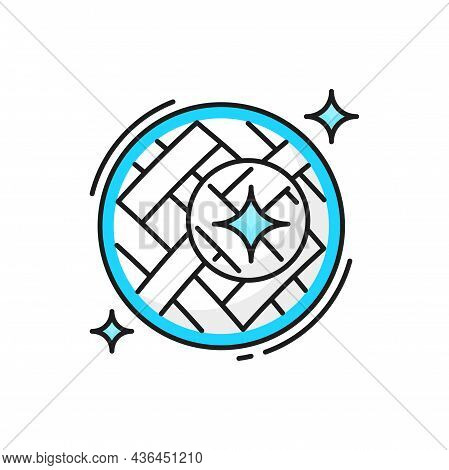 Clean Fiber Cloth With Spiral Surface Closeup Icon Isolated. Vector Brilliant Clean Cloth Blanket Or