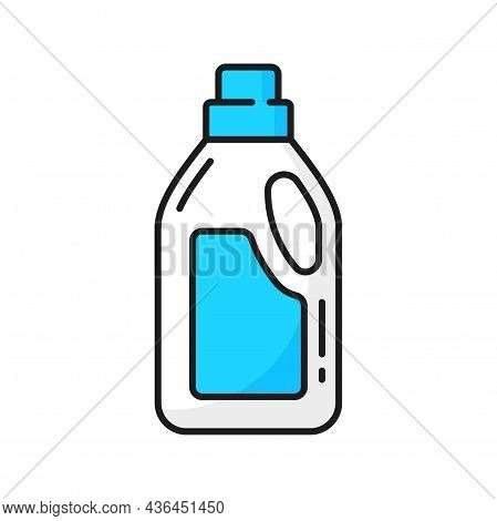 Washing Detergent Package, Laundry Cleaning Gel Isolated Color Line Icon. Vector Toilet Or Sink Clea