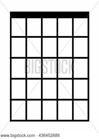 A Basic Blank Learner Chord Teaching Box In Black On White