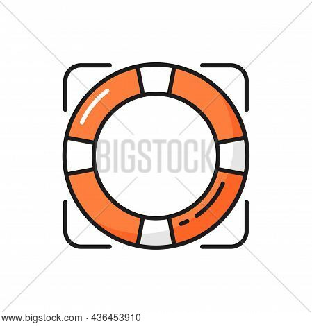 Rescue Services, Help For Customers, Support Help Isolated Icon. Vector Lifesaver And Info Privacy P