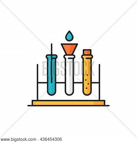 Scientific Research Laboratory Flasks, Genetics And Physics, Biochemistry Chemistry Isolated Thin Li