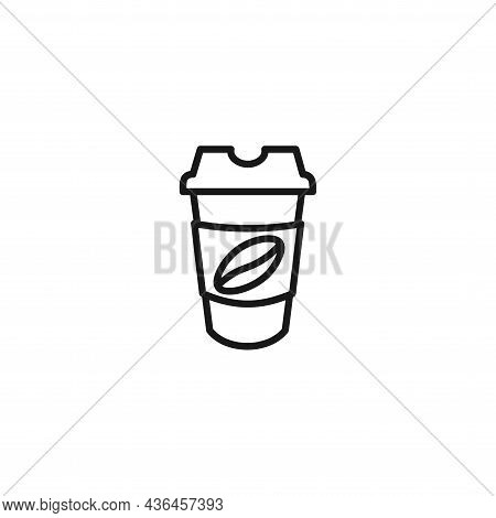 Coffee Cup Line Icon. Coffee To Go Icon