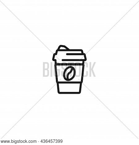 Coffee Cup Line Icon. Coffee To Go Icon.