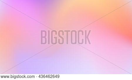 Beautiful Juicy Gradient Background. Purple, Pink, Orange Colors. Horizontal Background. Cute Deskto
