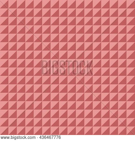Vector Triangle Seamless Pattern. Abstract Geometric Playful Childish Background. Cute Baby Print