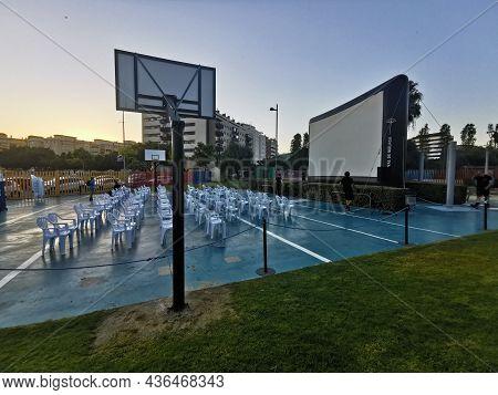 Málaga, Spain - July 02, 2021: View Of The