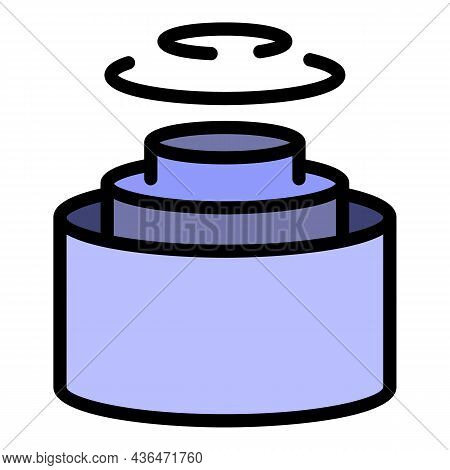 Cutaway Cable Icon. Outline Cutaway Cable Vector Icon Color Flat Isolated