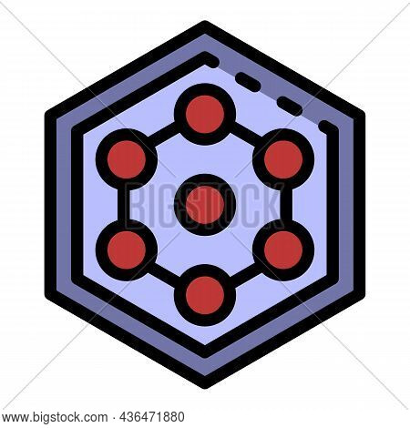Hex Cable Icon. Outline Hex Cable Vector Icon Color Flat Isolated
