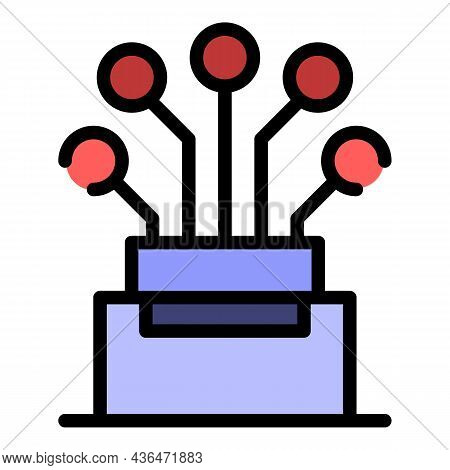 Highly Conductive Cable Icon. Outline Highly Conductive Cable Vector Icon Color Flat Isolated