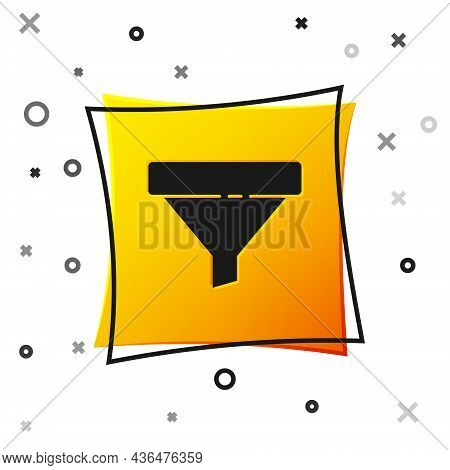 Black Sales Funnel With Arrows For Marketing And Startup Business Icon Isolated On White Background.