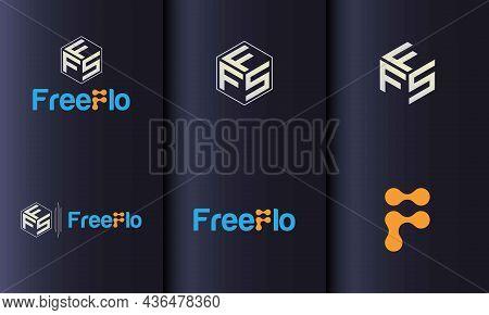 Tech Start Up Vector Favicon Logo Set