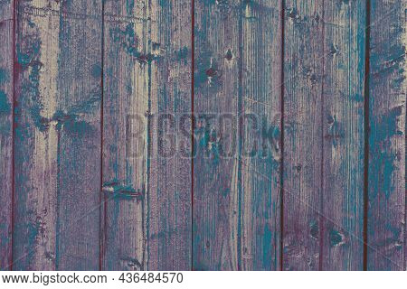 Empty Dark Wooden Backdrop With Vertical Boards With Copy Space. Backdrop Made Of Wood Textures Surf