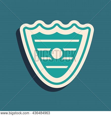 Green Shield Icon Isolated On Green Background. Guard Sign. Security, Safety, Protection, Privacy Co